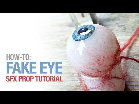 Halloween Tutorial : DIY Bloody Eyeballs ! - YouTube