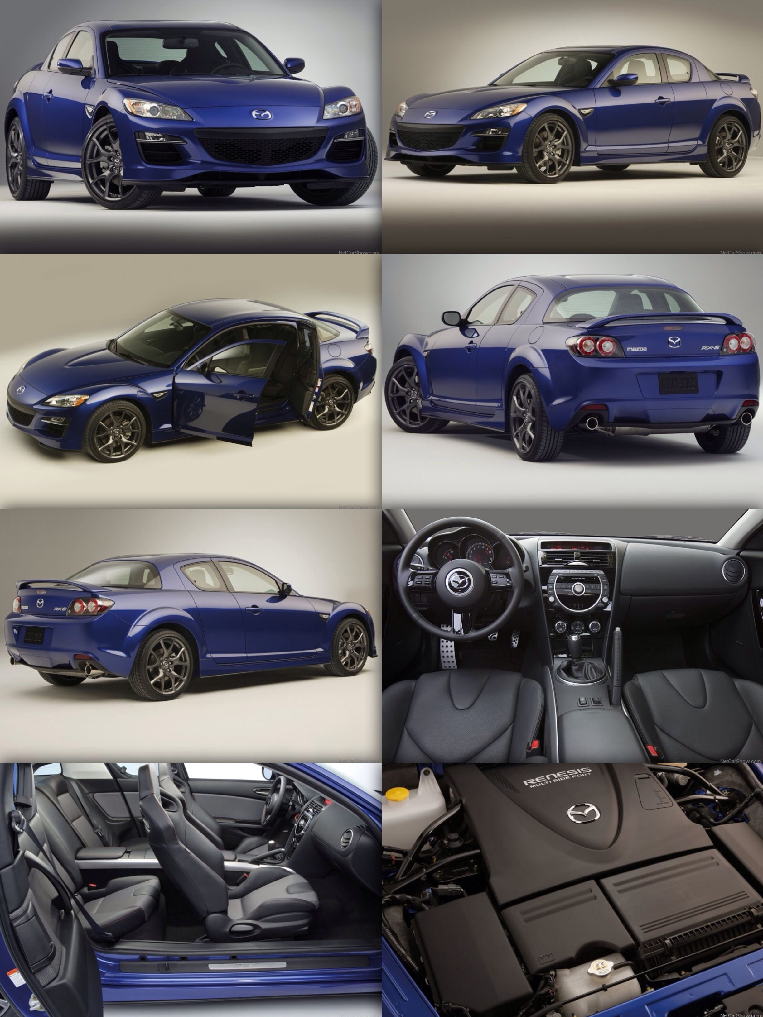 Mazda Rx 8 Now Have This Beauty In All Black And Baby Blue Seats