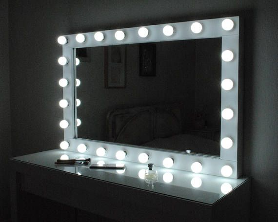 How To Make A Vanity Mirror With Lights Simple Hollywood Vanity Mirror With Lightsmake Up Mirror With  Projects