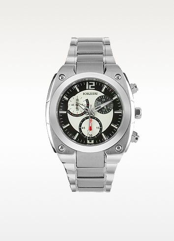 Men's Stainless Steel Bracelet Chronograph Watch - Forzieri #men #smart #watch #fashion #style #women #chronograph