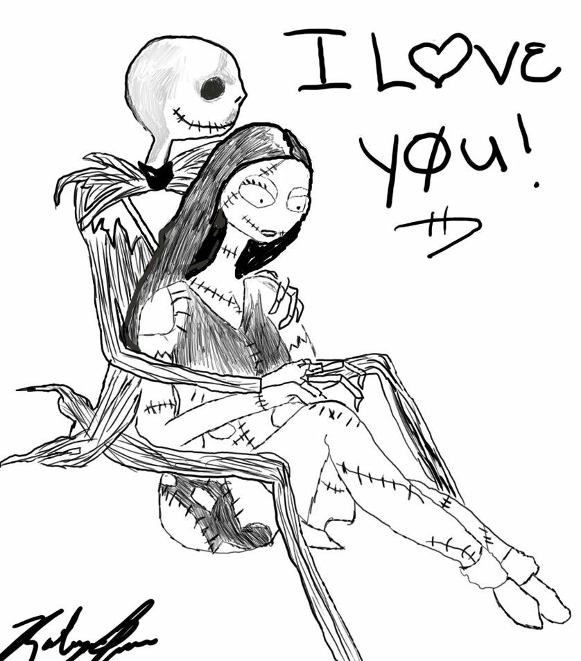 Pin by Kristi Martin on jack the skeleton and sally drawings ...