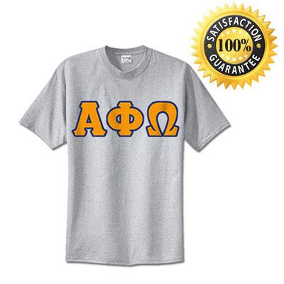 #AlphaPhiOmega Fraternity Standards Lettered T-Shirt | Something Greek | #fraternitymerchandise #standards #somethinggreek