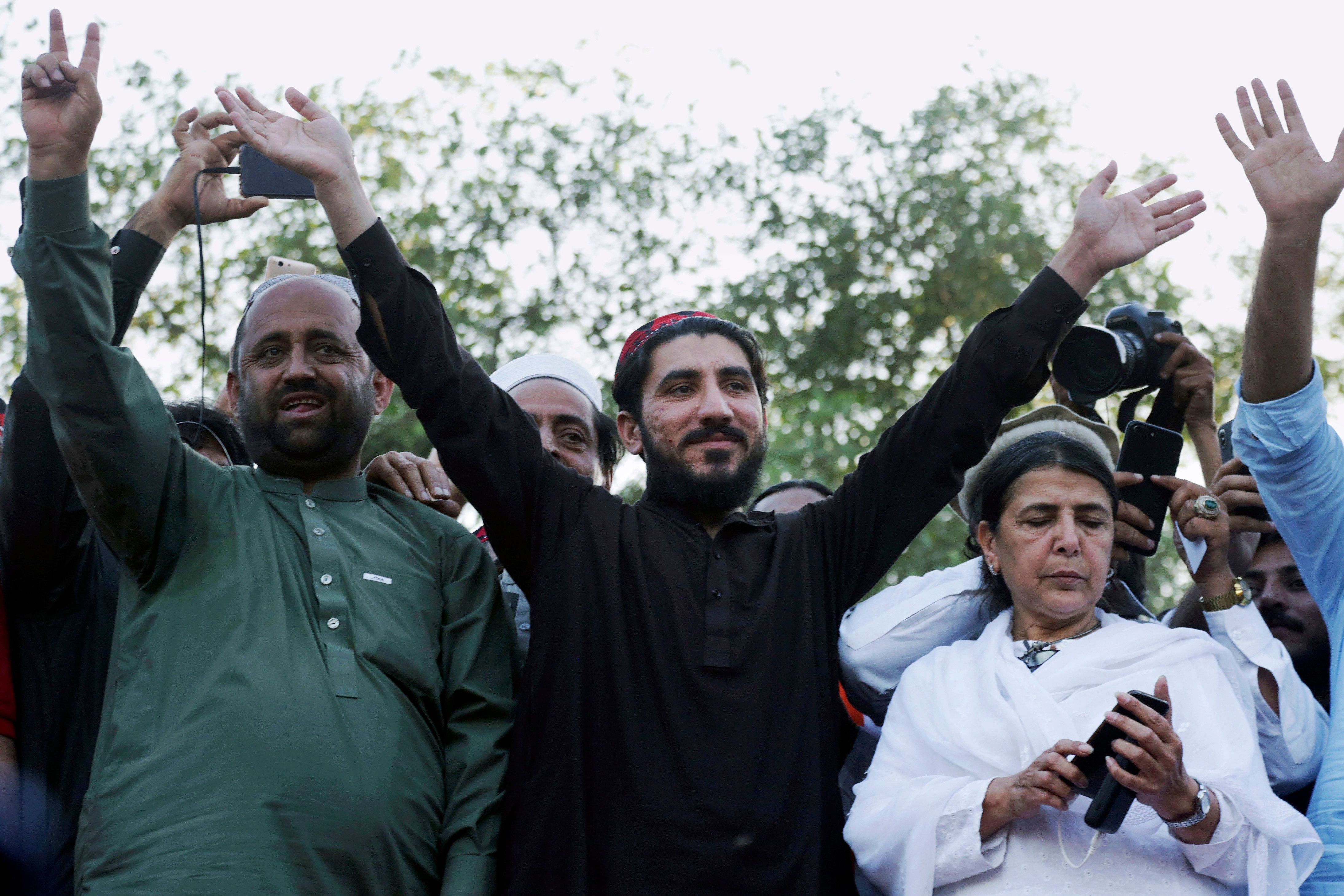 Leader of Pakistani Rights Movement Is Arrested on