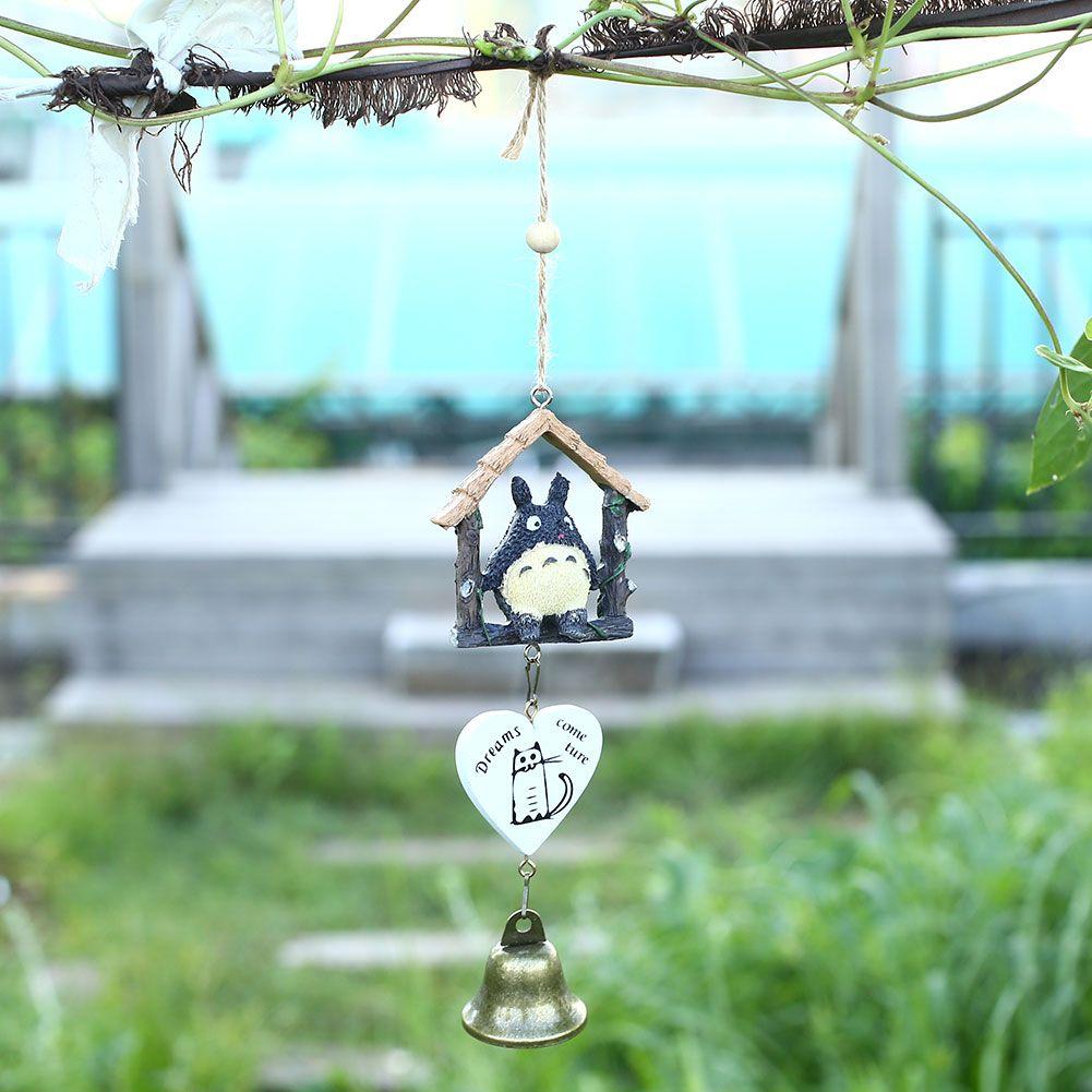 Creative Japanese Wooden House Landscape Garden Wind Chime Bells ...