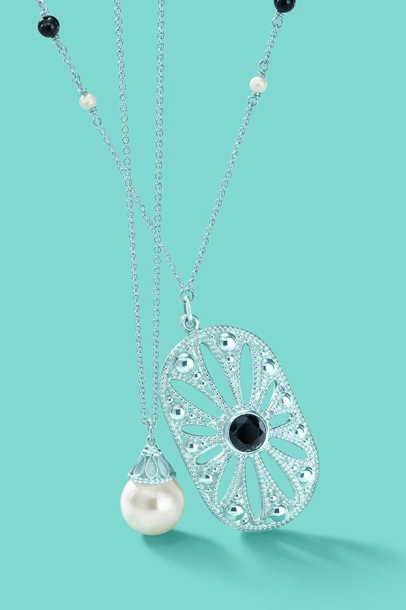 0f8ea04f7 Tiffany & Co. Ziegfeld Collection pearl and daisy pendants.  #TiffanyPinterest