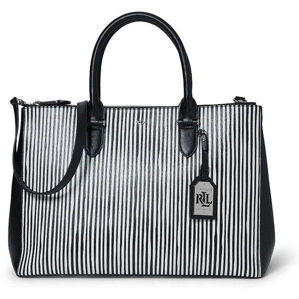 Bags · Lauren Ralph Lauren Newbury Striped Double-Zip Satchel ( 298) ❤  liked on Polyvore 5d3425e058d47