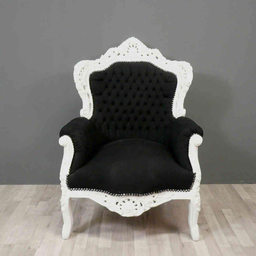 Fauteuil Baroque Noir Et Blanc Chaises Baroques Dream Home
