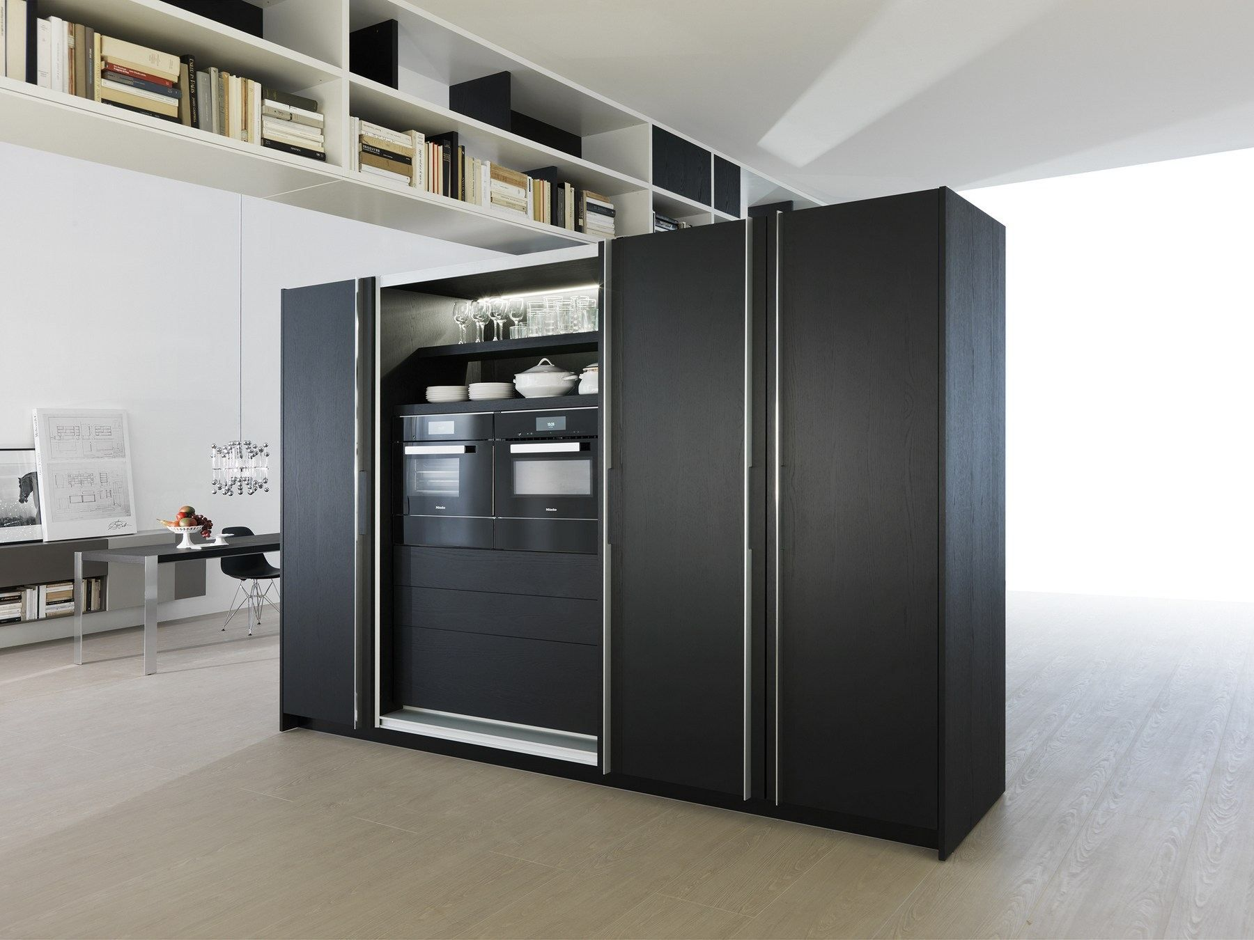 Cucina a scomparsa lineare TIVALÌ by DADA | design Dante Bonuccelli ...