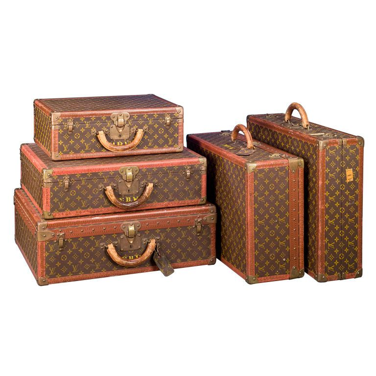 antique lv suitcases