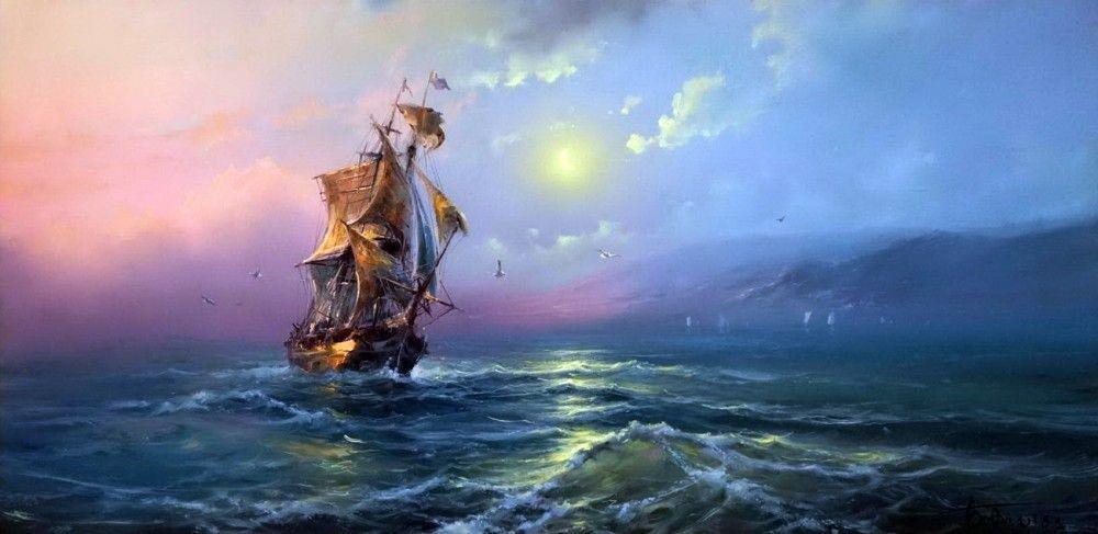 Кто видел море — тот сюда вернётся... Художник Дмитрий ...