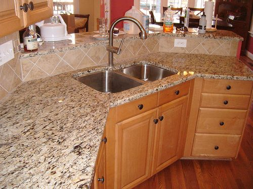 would you paint your countertops to look like granite? | ob house