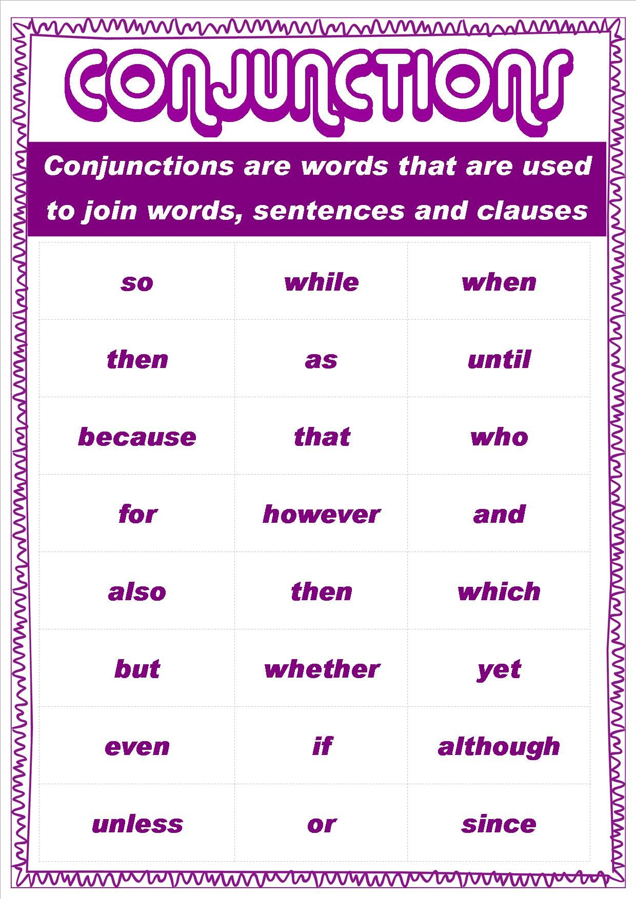 Grammar Posters For My Class This Year 4i Conjunctions Grammar Posters Conjunctions Worksheet Verb Worksheets [ 1754 x 1240 Pixel ]