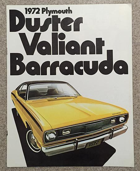 Valiant 1974 Plymouth Duster Barracuda Cuda Car Sales Brochure Catalog