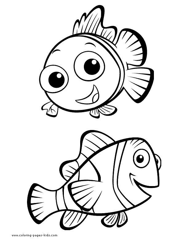 nemo finding nemo coloring page, disney coloring pages, color plate ...