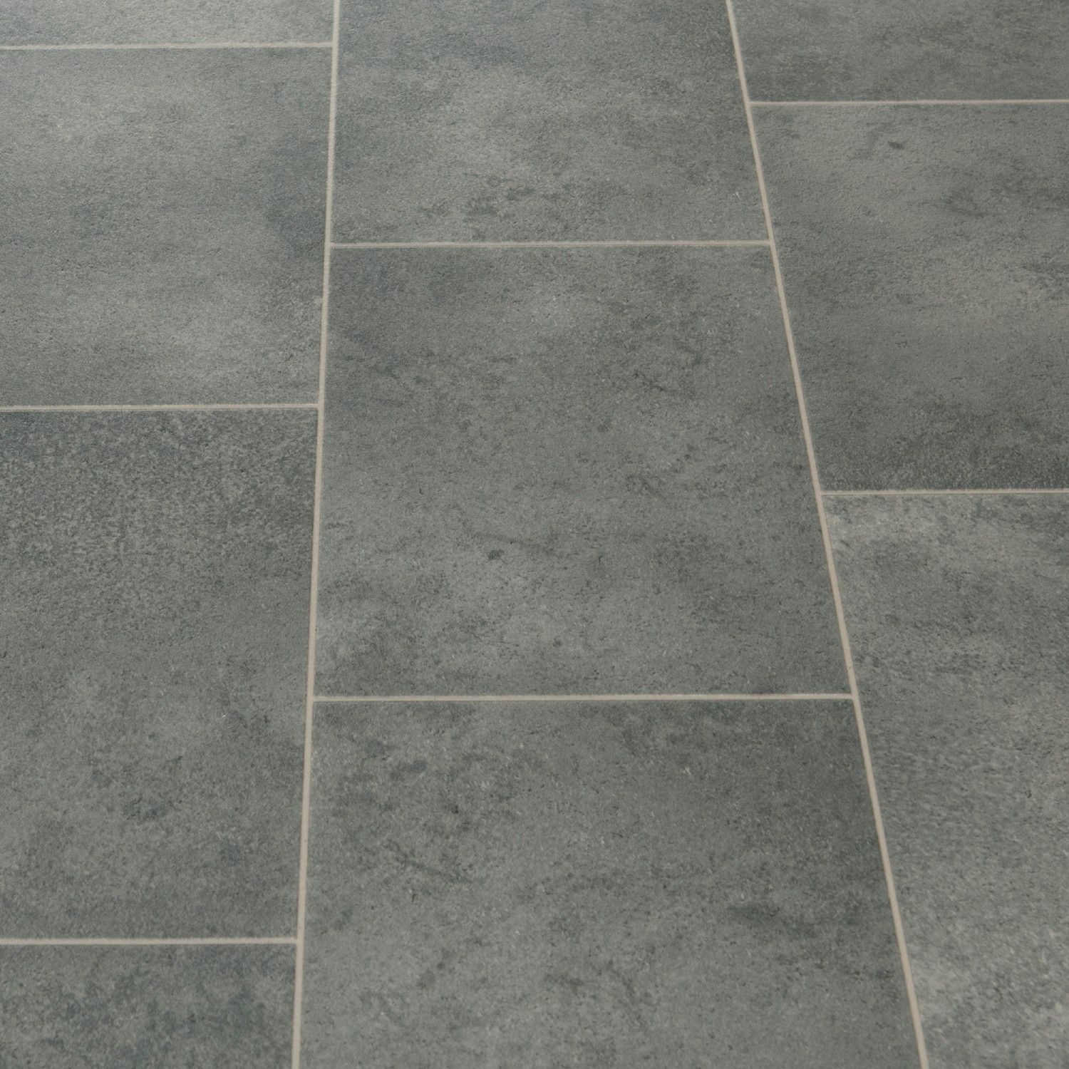 Floorgrip 593 galerie grey stone tile effect vinyl for Vinyl kitchen floor tiles