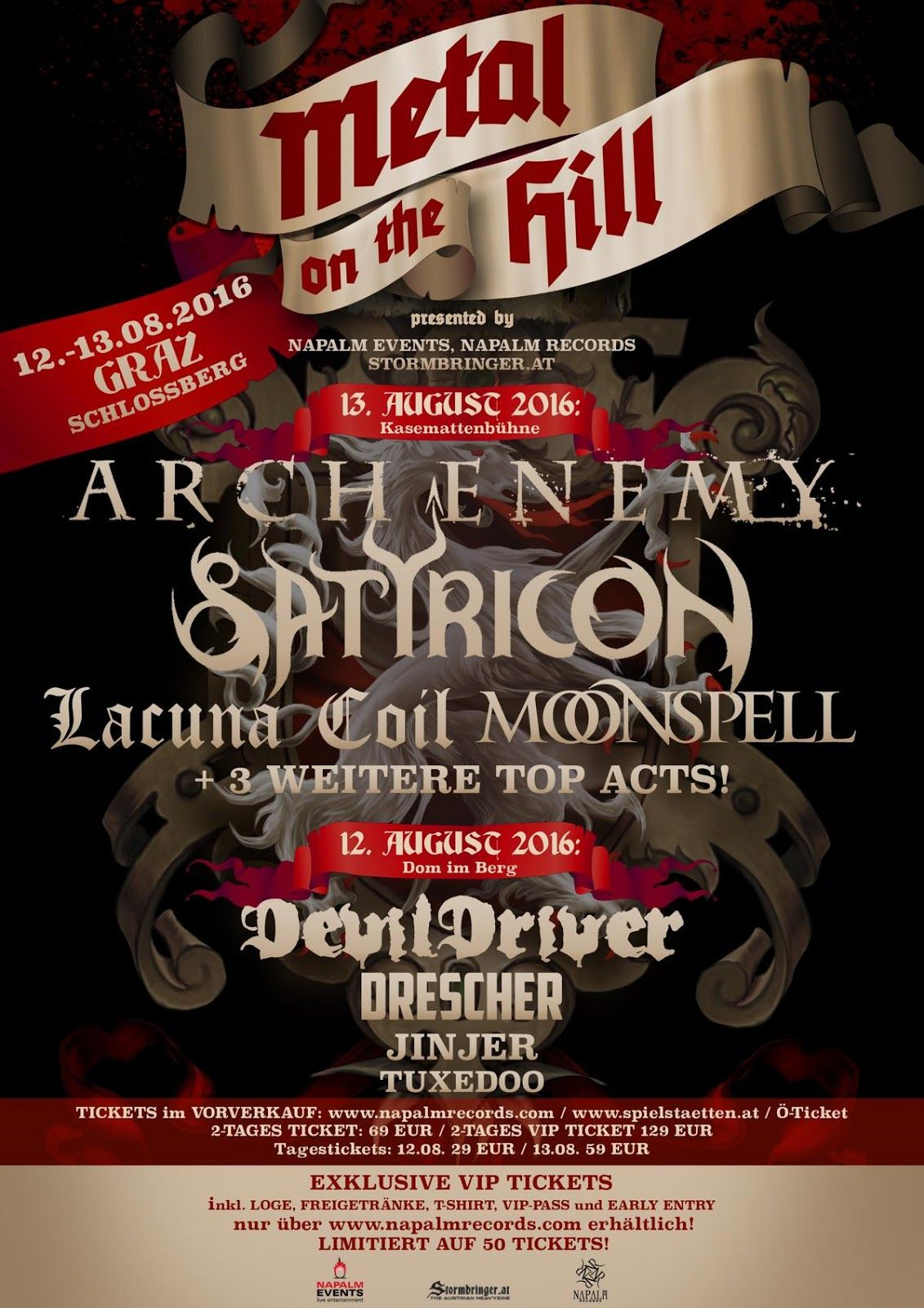 Events Metal On The Hill Details Unveiled Music Festival Poster Metal Concert Posters