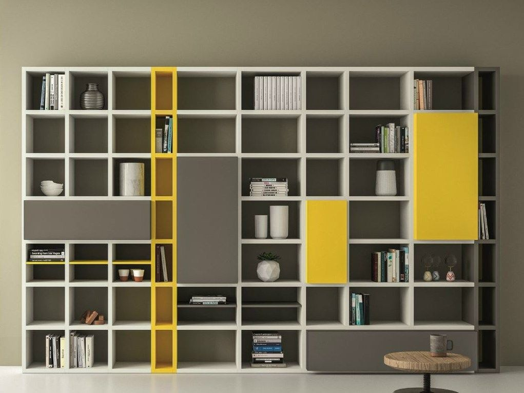 LACQUERED BOOKCASE SPEED P SPEED COLLECTION BY DALLu0027AGNESE DESIGN