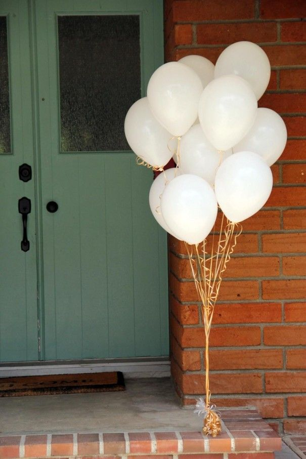 White Balloons Bb Shower Ideas Pinterest White Balloons Gold