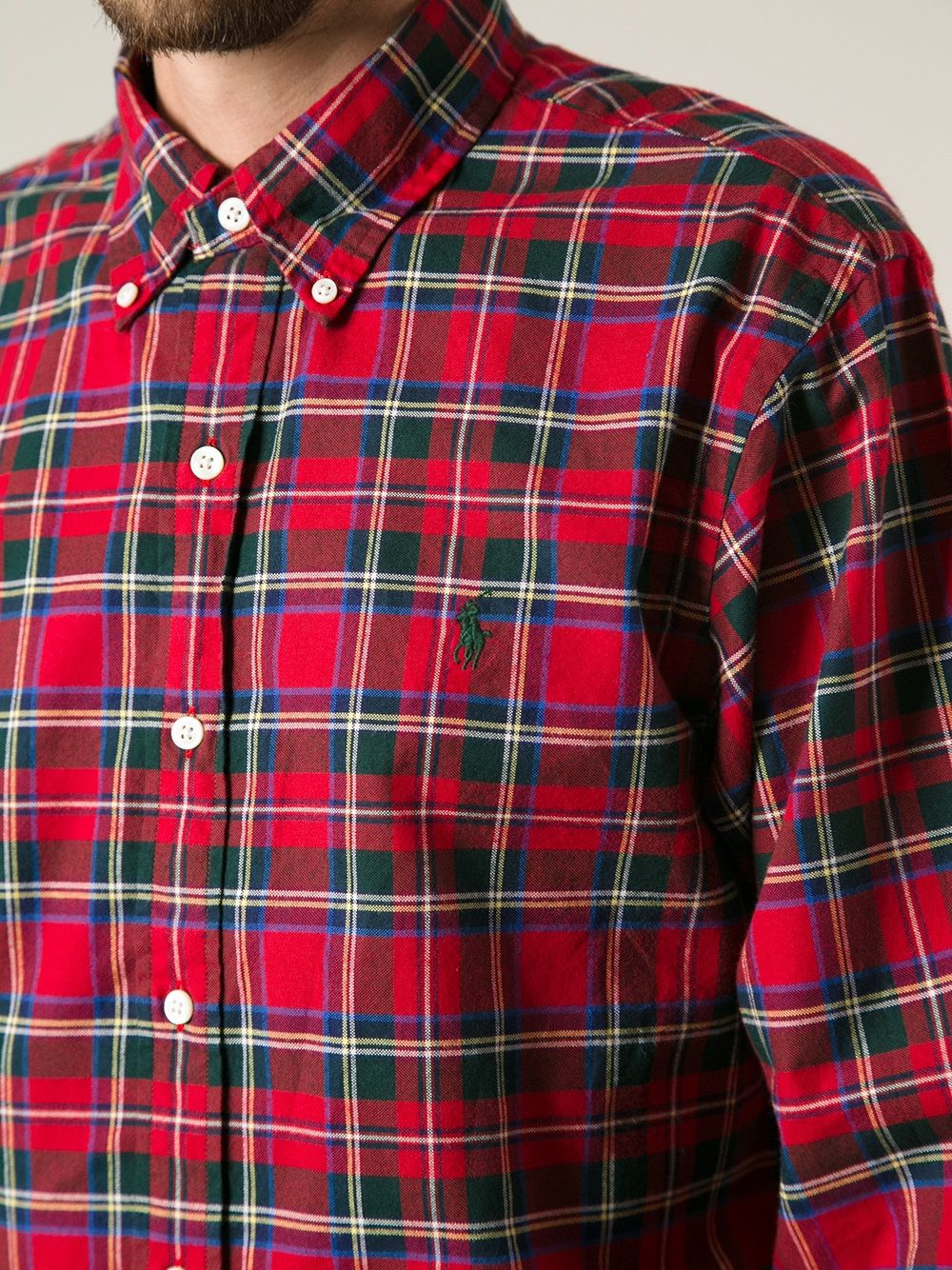 d6a5a485c Polo ralph lauren Plaid Button Down Shirt in Red for Men
