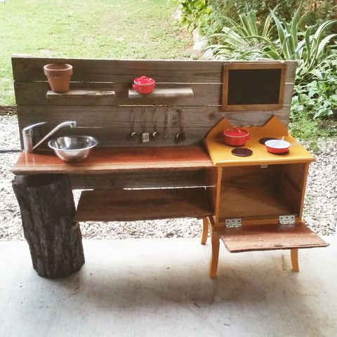 Wooden Play Kitchen Plans diy play kitchen | diy play kitchen, earth and plays