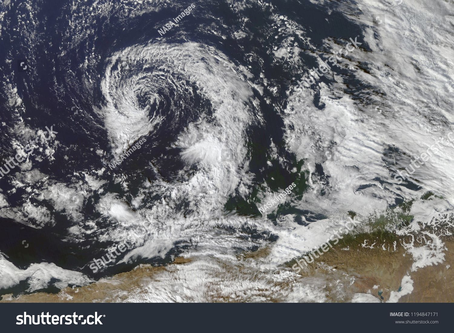 Hurricane From Space Satellite View Elements Of This Image Furnished By Nasasatellite View Hurricane Space Nasa Images Image Satellites