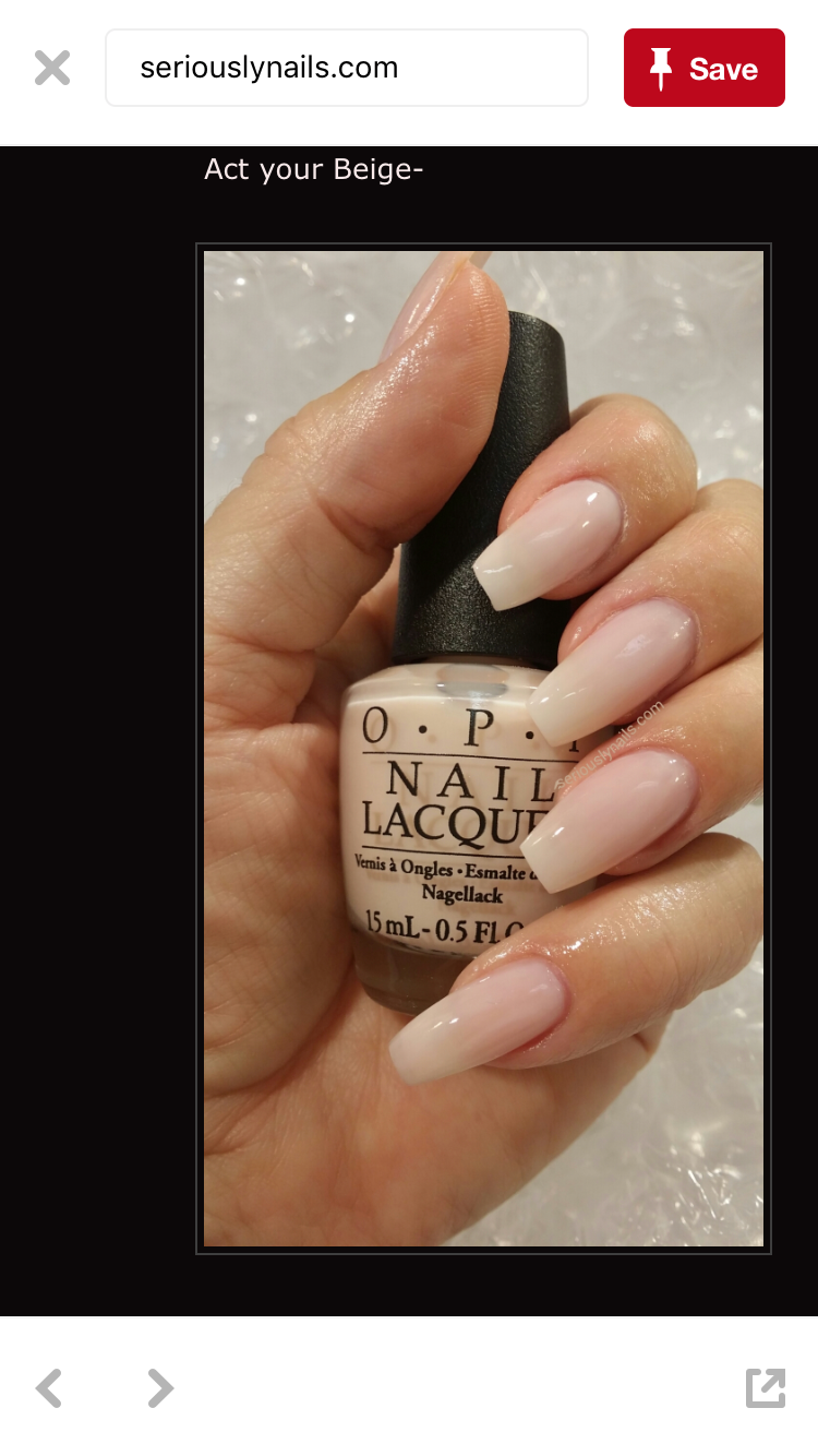 OPI - Act your Beige | Nails ideas! | Pinterest
