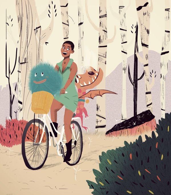 Bikefriendly Imagination Book by Juliana Cuervo, via Behance