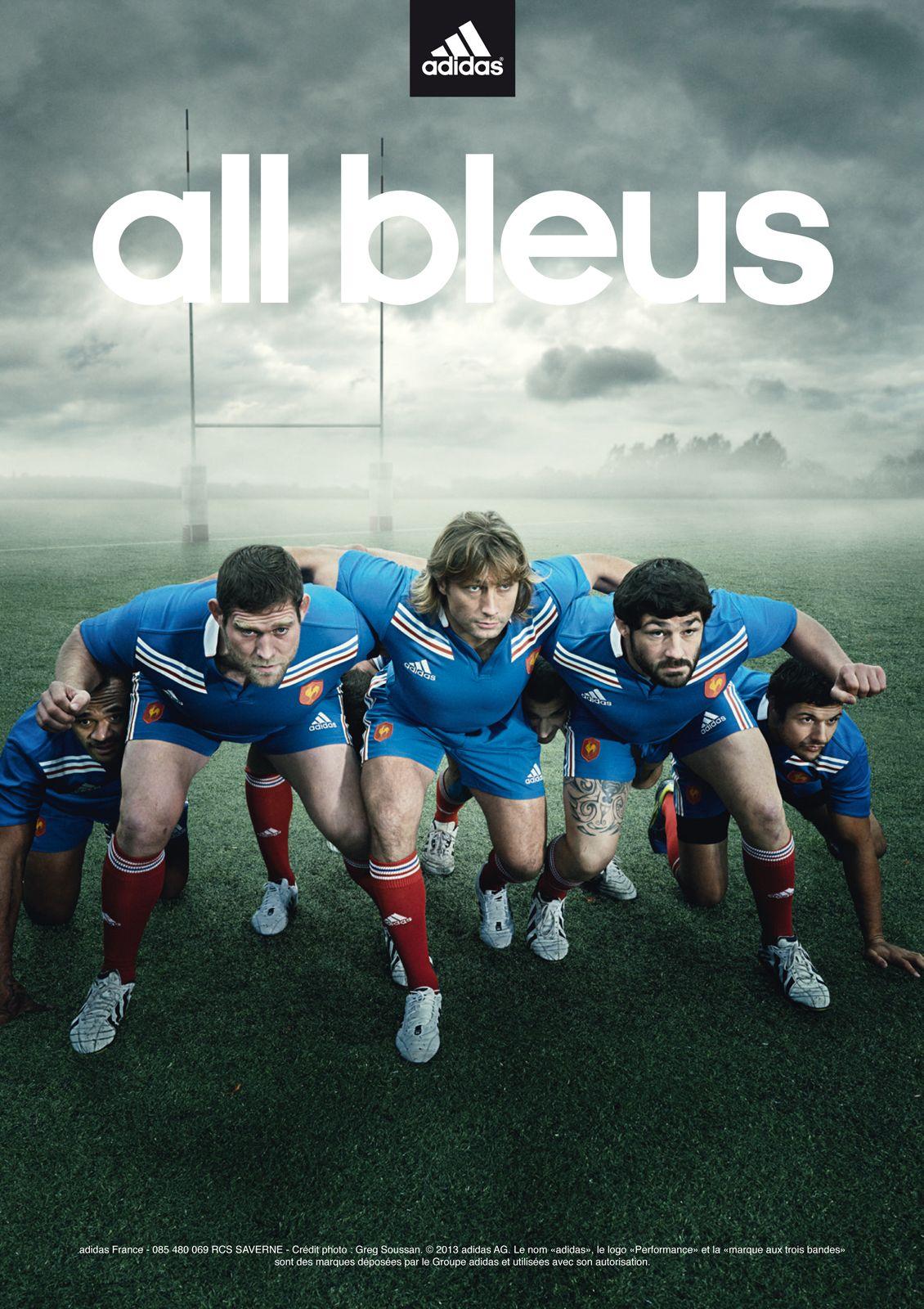 All bleus, la nouvelle campagne Adidas pour un rugby moderne