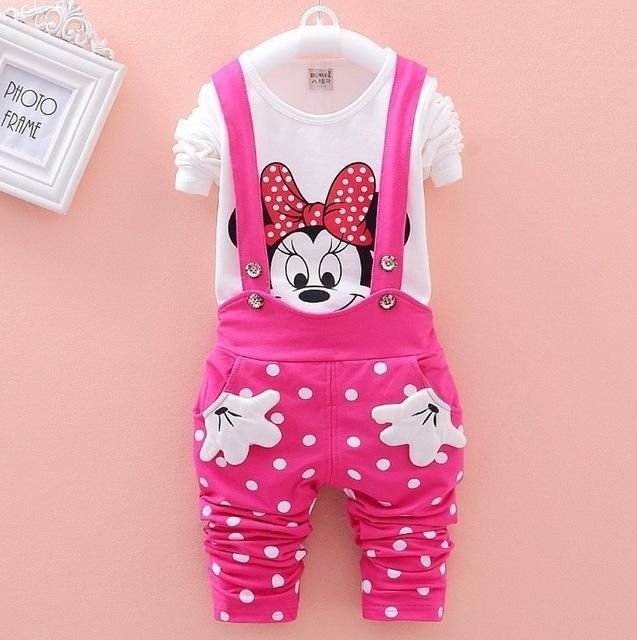 Minnie Mouse Full Sleeve Shirt Amp Suspender Pants Set For