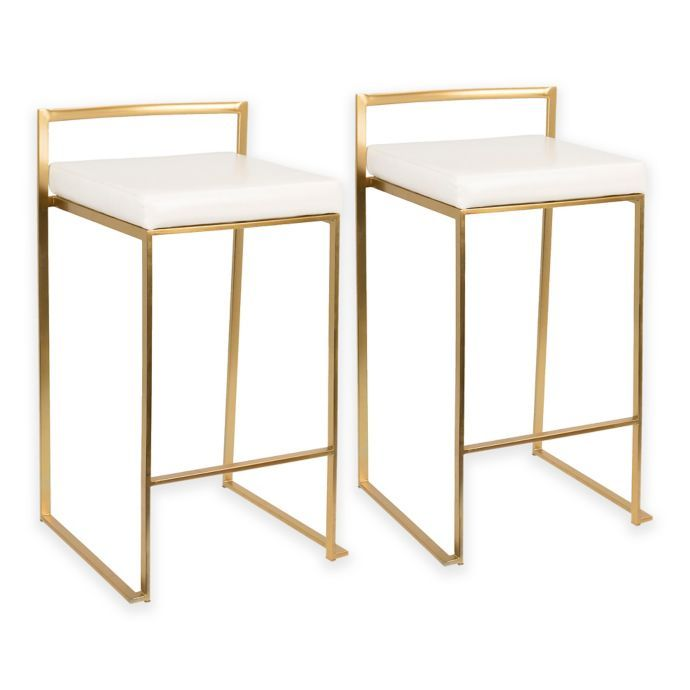 Admirable Lumisource Fuji Counter Stools Set Of 2 Bed Bath Theyellowbook Wood Chair Design Ideas Theyellowbookinfo