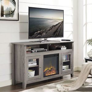 Isabel Highboy Tv Stand With Electric Fireplace With Images