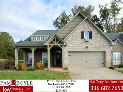 Luxury on Lake Louise Drive! 4 Bdrm / 3 Bath in #Mocksville #NC $244,900 MLS #811608 - Talk to #PamBoyle Today!