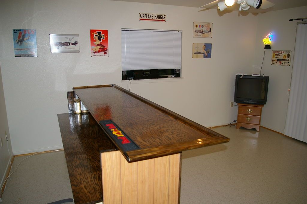 Genial Home Built Bar With Mini Fridge