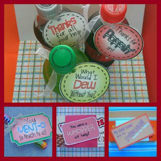 FREE downloadable tags for gifts. Great end of the year thank you present for classroom volunteers!