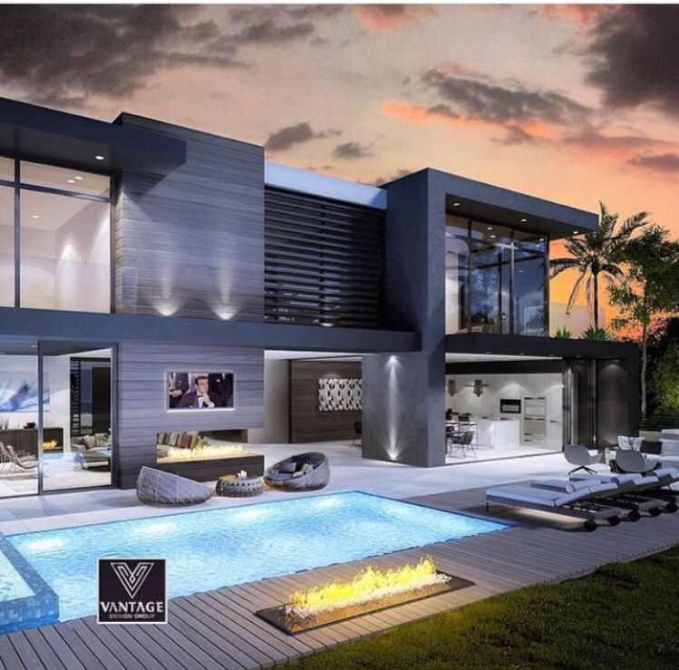 Home Decor 2012 Modern Luxury Homes Beautiful Garden: Like The Way The House Is Composed Along With The Pool