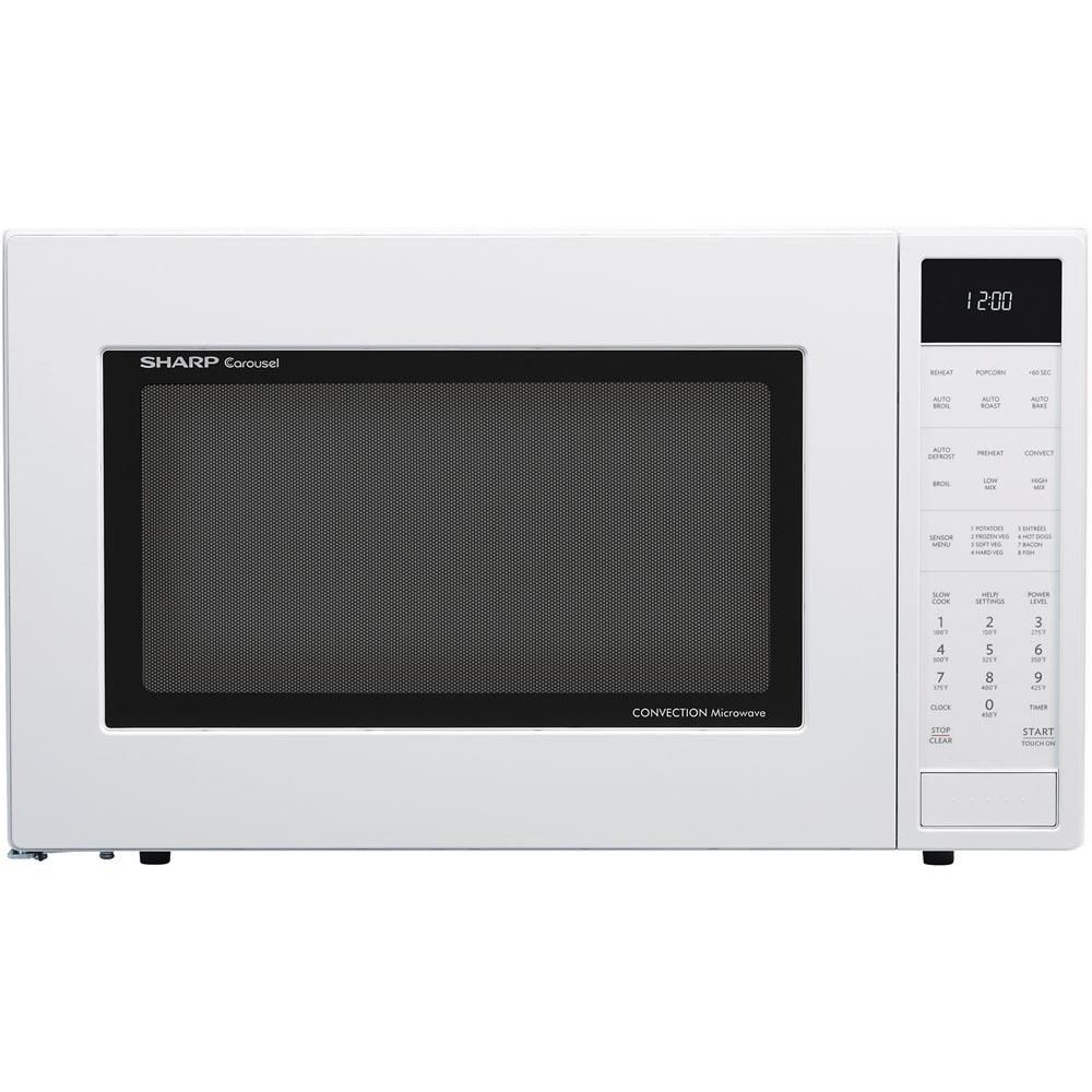 Sharp 1 5 Cu Ft Countertop Convection Microwave In White Built In Capable With Sensor Cooking Convection Cooking Microwave Oven Sharp Convection Microwave