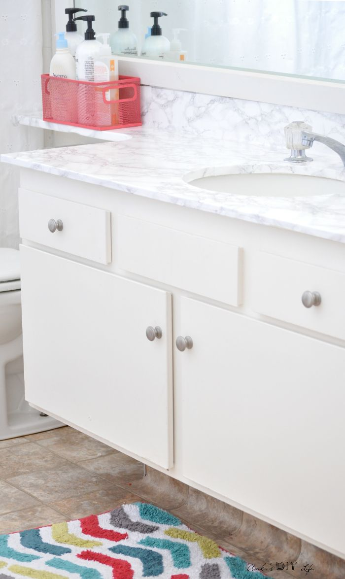 How To Update A Countertop With Contact Paper Rental Bathroom