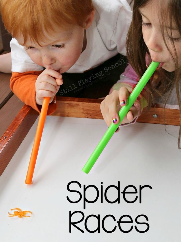 Spider Races Sensory activities, Spider and Benefit - kid halloween party ideas
