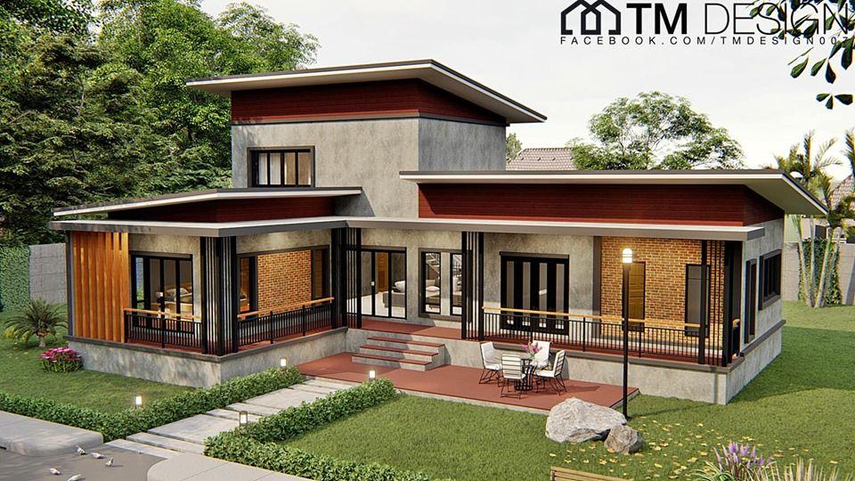 แบบบ านโมเด ร นช นคร ง 3 ห องนอน พ นท ใช สอย 160 ตรม Doidea ด ไอเด ย บ าน สถาป ตยกรรมสม ยใหม สถาป ตยกรรมบ าน ออกแบบบ าน