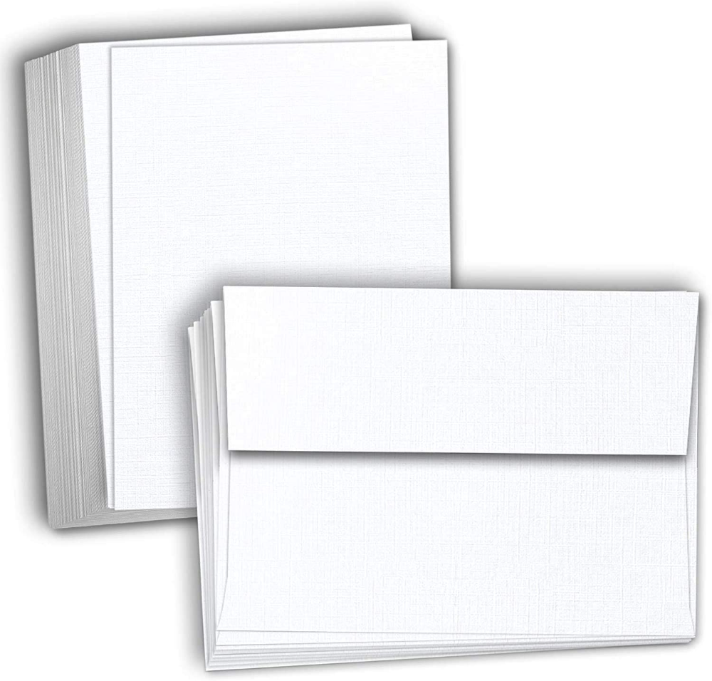 Amazon Com Hamilco 5x7 White Linen Cardstock Paper Blank Index Cards Card Stock 80lb Cover 50 Pack Office Products Cardstock Paper Card Stock Index Cards