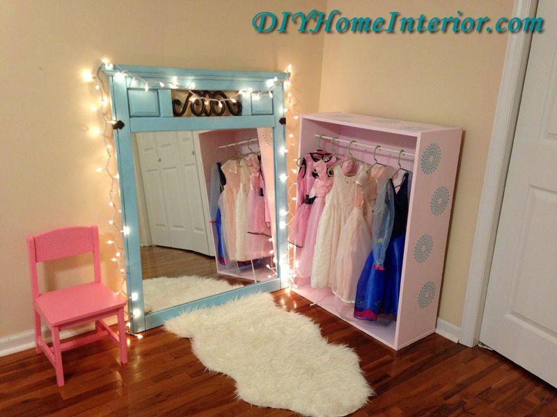 Diy Little Girl S Princess Dress Up Closet Princess Birthday Party