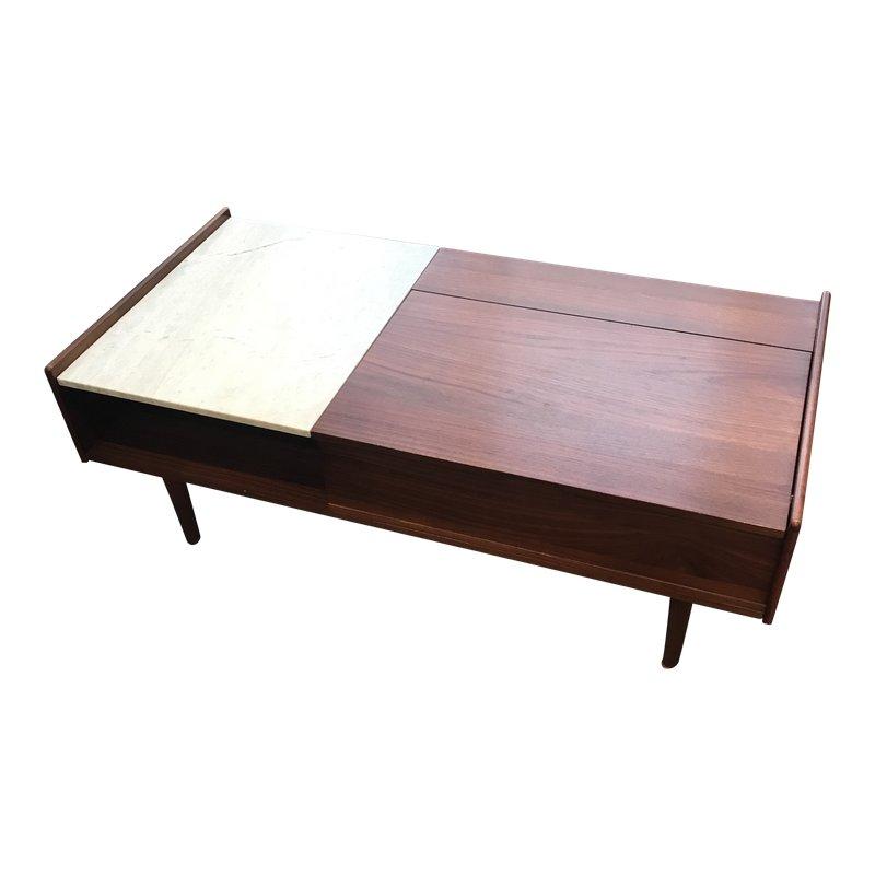 Midcentury modern west elm popup storage coffee table
