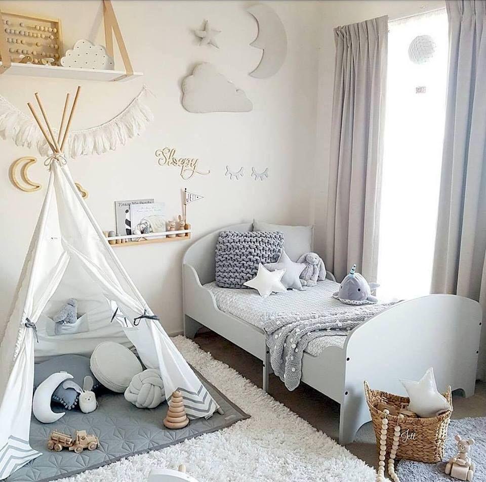 Jolie Chambre D Enfant En Gris Et Blanc Avec Images Deco