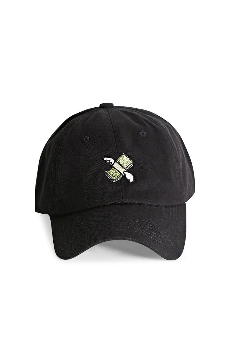 A Dad Cap By Hatbeast Featuring The Flying Money Stack Emoji