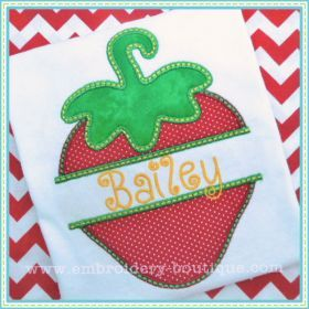 Split Strawberry Applique