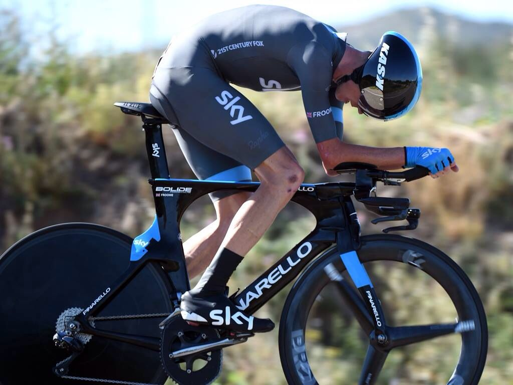 Chris Froome During The La Vuelta Time Trial Tt Bikes
