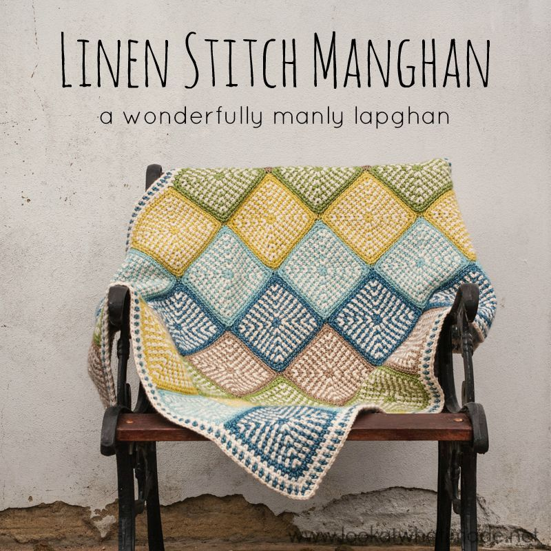 Linen Stitch Manghan Crochet Pattern | Crochet Afghans and Throws ...