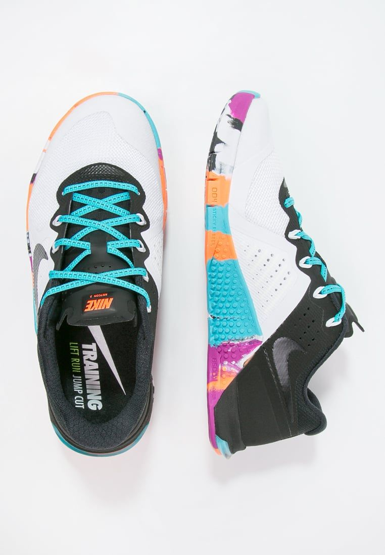 incrementar Económico Fuera  Nike Performance METCON 2 - Sports shoes - white/black/gammablue/hyper  violet/total orange - Zalando.co.uk | Sports shoes, Shoes, Metcon