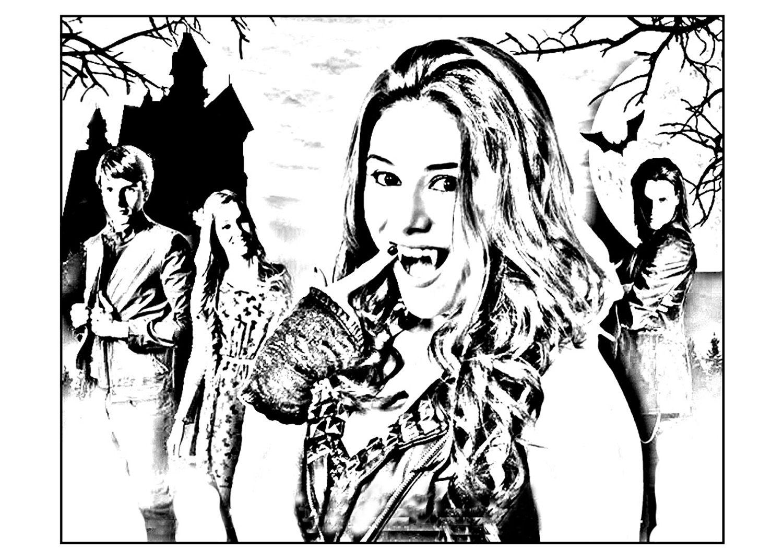 Pour imprimer ce coloriage gratuit coloriage chica - Coloriage chica vampiro ...