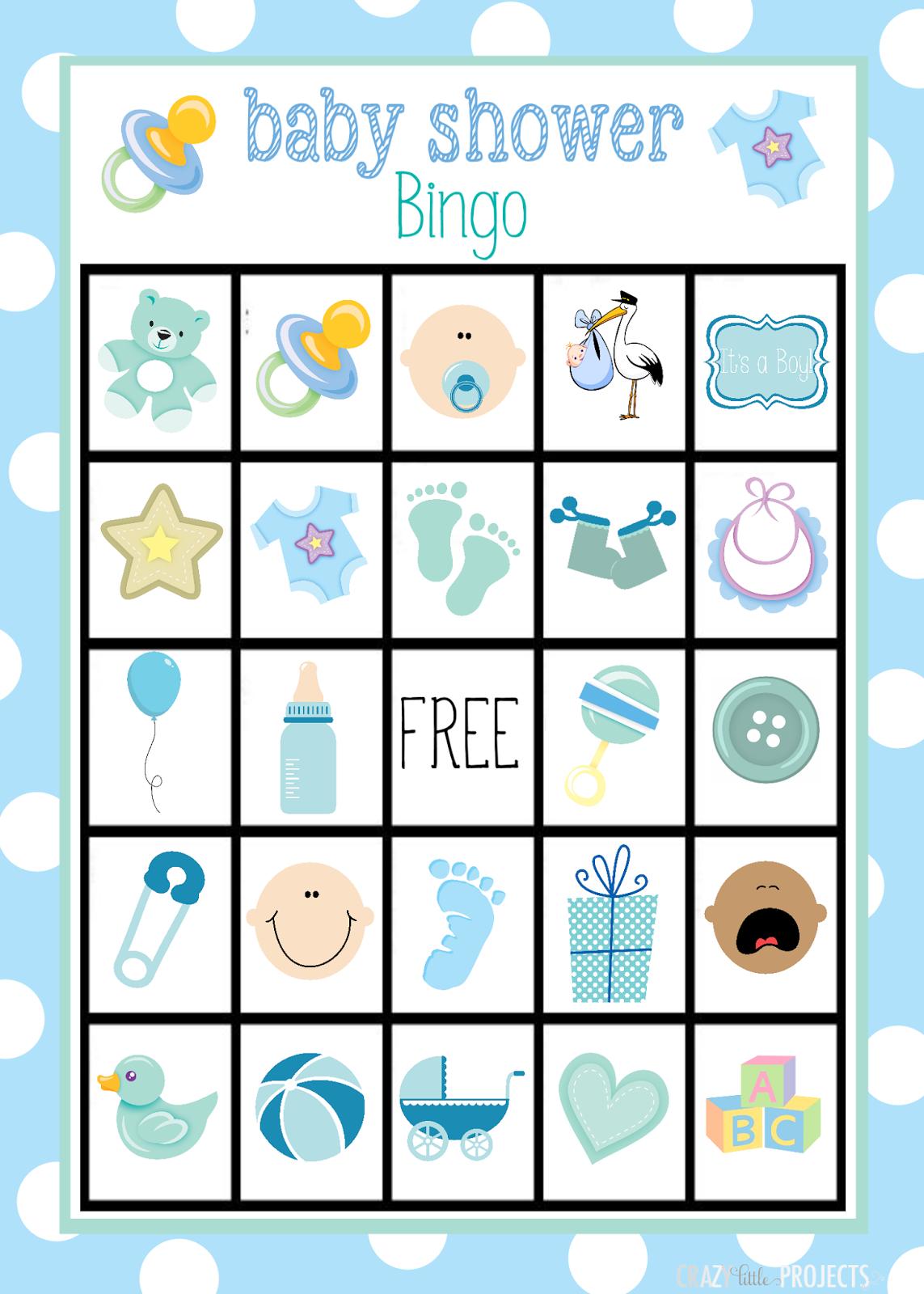 Bingo Para Baby Shower De Nino Para Imprimir Gratis Tarjetas